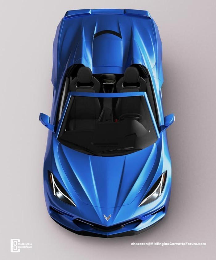 Chazcron renders the C8 Corvette