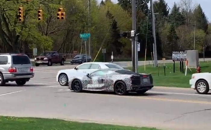 [SPIED] Man Sees the C8 Corvette on the Street and Exclaims 'It Looks Like a Ferrari'!