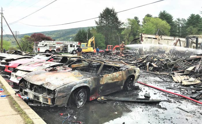 [ACCIDENT] Fire Burns Down HBO Set Destroying over 20 Rare 1990 Chevrolet Vehicles