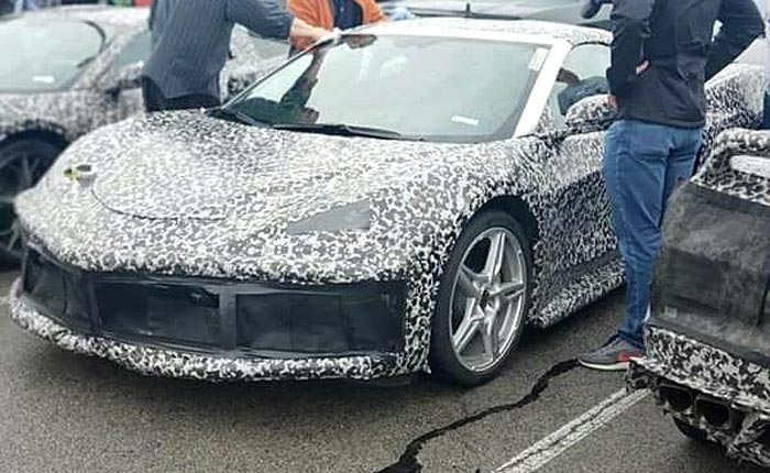 C8 Corvette Silver 5-spoke wheels