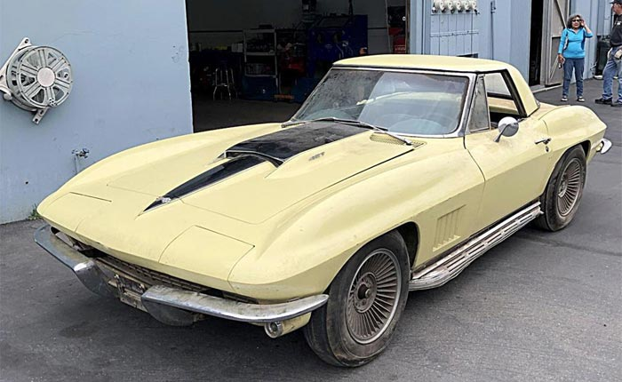 1967 Corvette with 427/435 V8 and 1,293 Original Miles Found in Maryland Basement