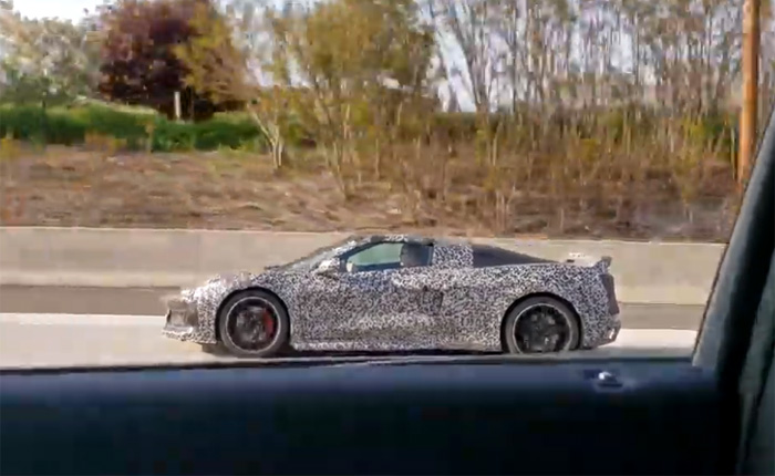 [SPIED] C8 Mid-Engine Corvette Accelerates on the Highway and It Sounds Fantastic!