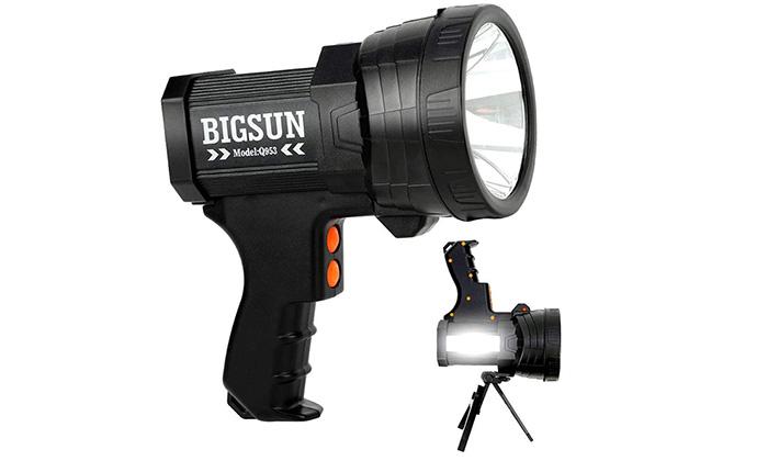 [AMAZON] Save 50% on the BIGSUN 2000 Lumens Rechargeable LED Flashlight