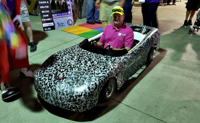 Camo Wrapped Rear Engine 'Corvette' Turns Heads at the Relay for Life Walk
