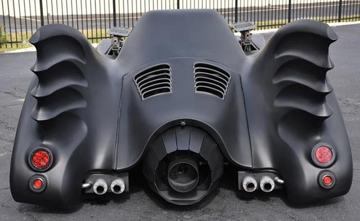 Corvettes for Sale: Replica Batmobile Rides on an 1989 Corvette Chassis
