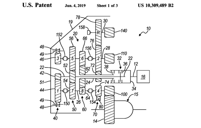 GM Receives Patent for an 8-Speed Dual Clutch Transmission