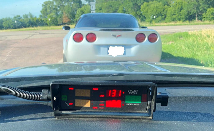 [PIC] C6 Corvette Driver is Clocked Speeding at 131 MPH in South Dakota