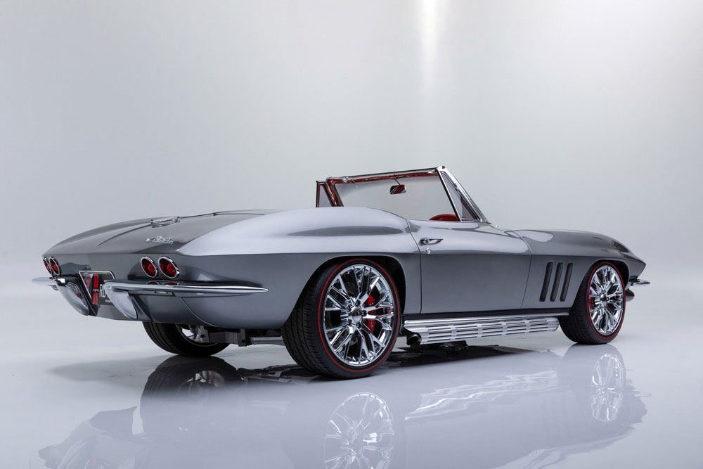 1966 silver/red restomod convertible