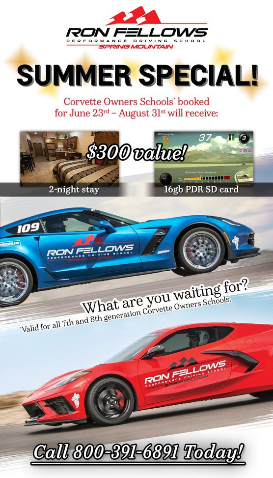 Book Your Corvette Owner's School Classes for the Summer and Receive $300 Value in Extra Perks