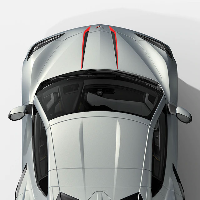 Stinger Graphic on the 2021 Corvette