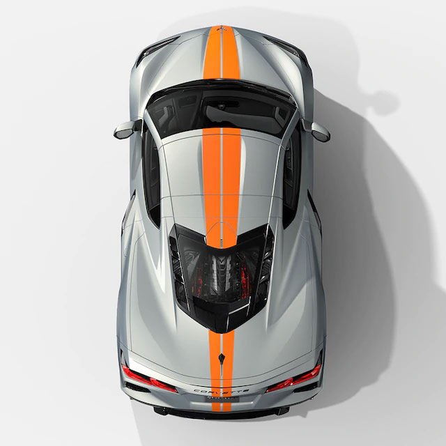 Sky Cool Gray/Strike Yellow Interior for the 2021 Corvette