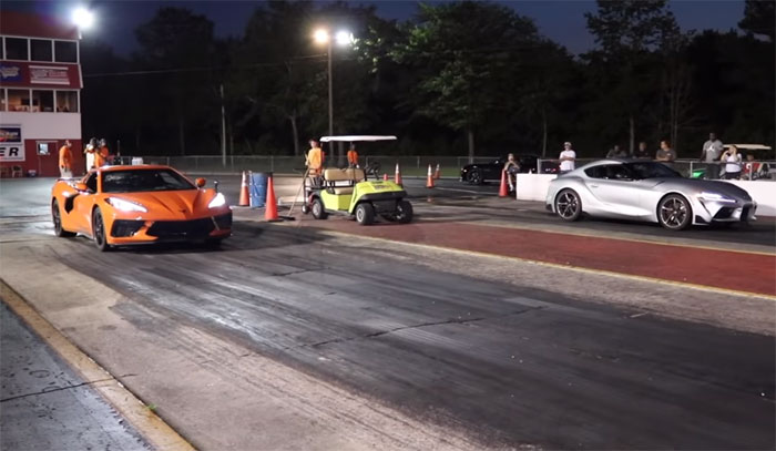 [VIDEO] 2020 Corvette Owner Shuts Down a Supra and Two Hellcats At the Drag Strip
