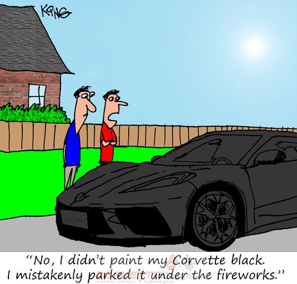 Saturday Morning Corvette Comic: Rockets' Red Glare