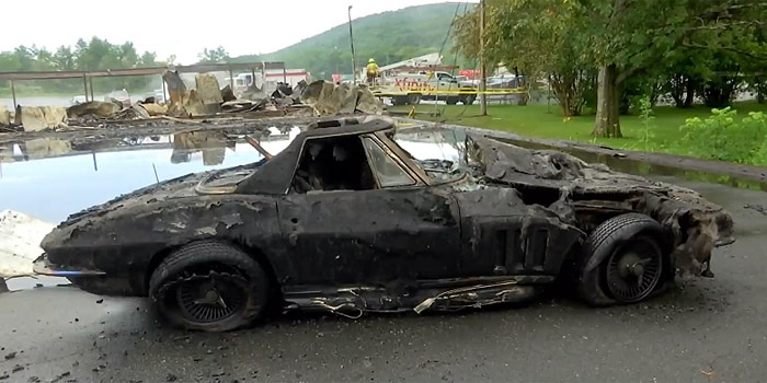 [ACCIDENT] Lightning Strike Burns Down a Building Housing Two Midyear Corvettes