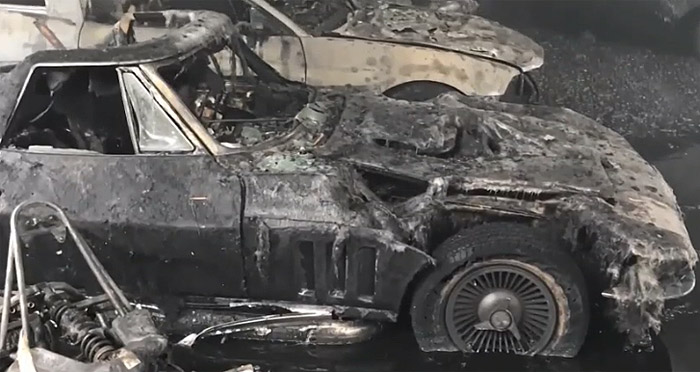 [ACCIDENT] Lightning Strike Burns Building Housing Several Midyear Corvettes