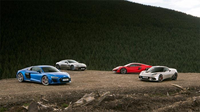 Porsche 911 Carrera S vs rivals: R8, Vantage, 570GT and Evora face off