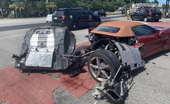 [ACCIDENT] C7 Corvette Loses Rearend in South Carolina Crash