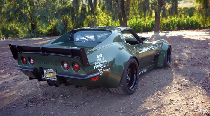 [VIDEO] Widebody 1970 Corvette LT1 Nicknamed 'Rambo' Was Built for the Autocross