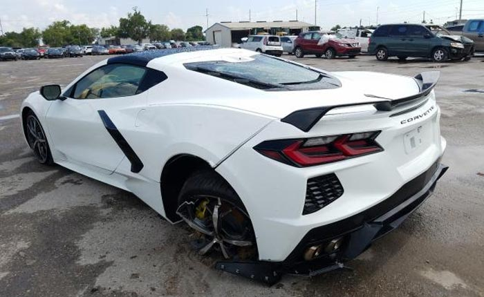 [PICS] Yet Another Wrecked 2020 Corvette Stingray Listed for Sale on Copart