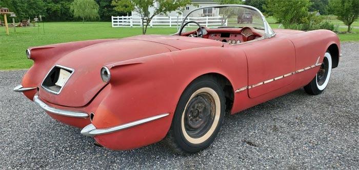 Corvettes on eBay: 1954 Corvette Barn Find Stored Since 1969