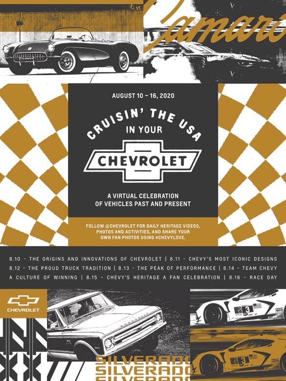 Chevrolet to Hold Virtual Fan Experience Celebrating its Classic and Current Vehicles