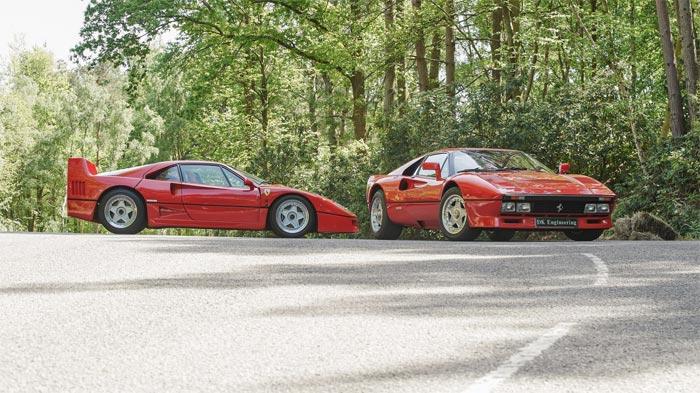 Ferrari F40 vs 288 GTO
