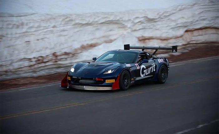 Corvettes for Sale: Record-Setting Pikes Peak 2017 Corvette Z06 on Bring A Trailer
