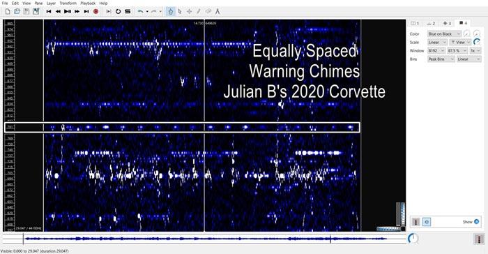 Julian B's C8 Corvette Spectrogram