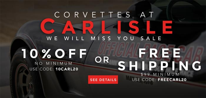 Corvette Central Has Two Special Offers to Save on Corvette Parts and Accessories