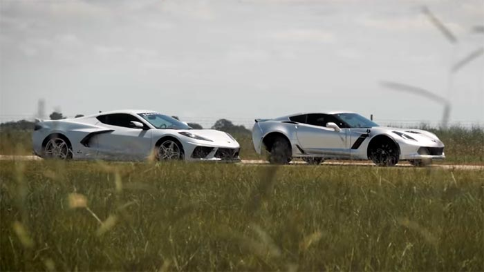 [VIDEO] Sibling Rivalry Grudge Match as Hennessey's HPE850 Z06 Destroys a Stock C8 Corvette