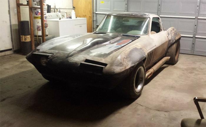 Corvettes on eBay: Flared 1966 Corvette Barn Find