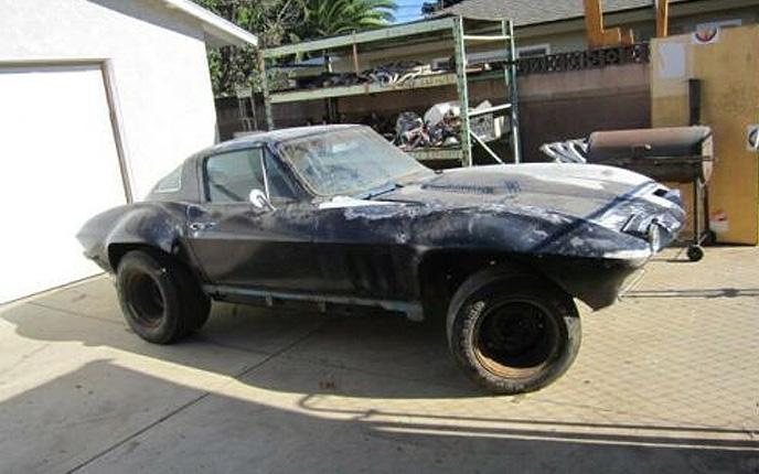 Corvettes on eBay: Flared 1966 Corvette 427 Barn Find