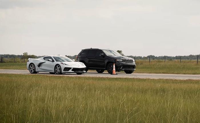 [VIDEO] Hennessey Jeep Trackhawk HPE1000 Seeks Redemption Against C8 Corvette