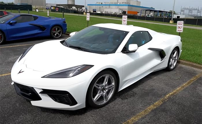 [VIDEO] Arctic White 2020 Corvette Convertible Spotted at the Corvette Assembly Plant