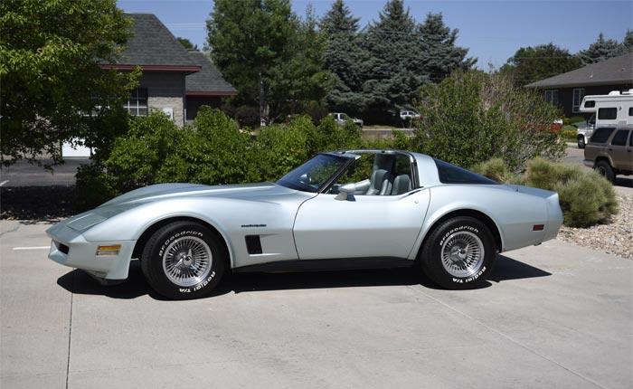 Corvettes for Sale: 1982 Corvette in Rare Silver Green Metallic