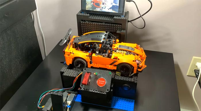 [VIDEO] Man Creates Electric Lego Corvette ZR1 with Working 4-Speed Manual Transmission