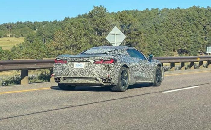 [SPIED] Camouflaged C8 Corvette Driving in Colorado