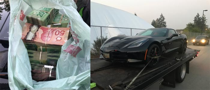 Canadian Cops Pull Over a C7 Corvette with Three Occupants and Find $50,000 in Cash
