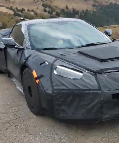 [SPIED] 2022 Corvette Z06 with Center Exhaust Pipes at Idle During Colorado Test