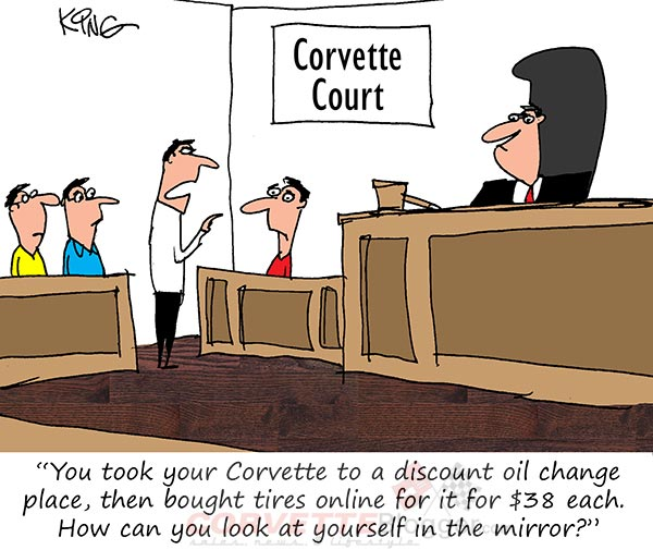 Saturday Morning Corvette Comic: Guilty As Charged