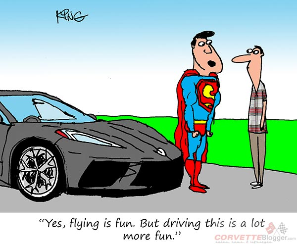 Saturday Morning Corvette Comic: Driving is A Lot More Fun!