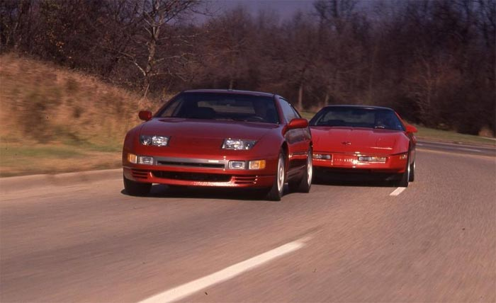 1991 Corvette Tested Against Nissan 300ZX