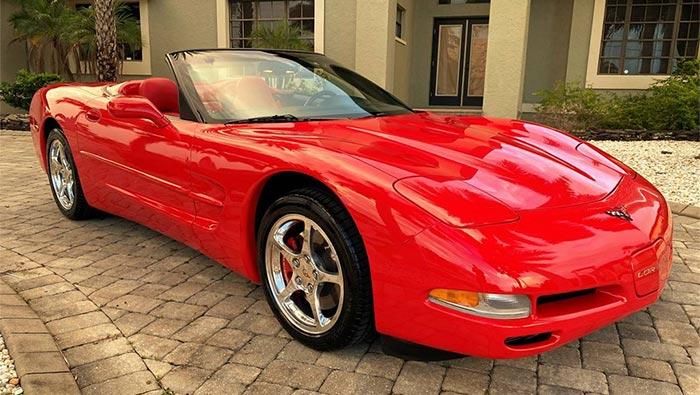 Corvettes on Craigslist: 2000 Corvette Convertible with 5589 Original Miles