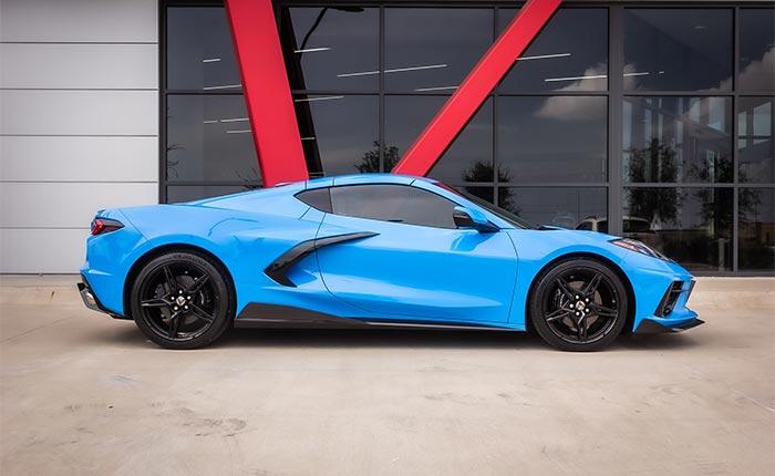2020 Corvette in Rapid Blue