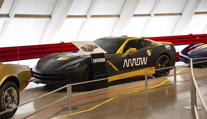 The Semi-Autonomous SAM Arrow 2014 Corvette is On Display at the Corvette Museum