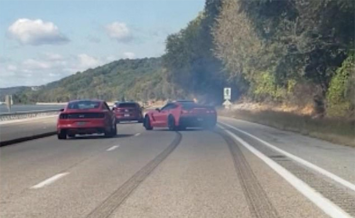 [ACCIDENT] C7 Corvette Z06 Fails Dramatically While Trying to Impress a Mustang Driver