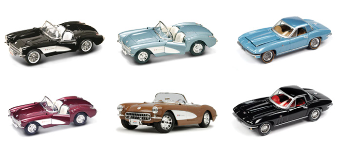 Classic Corvette Models at Fairfield Collectibles