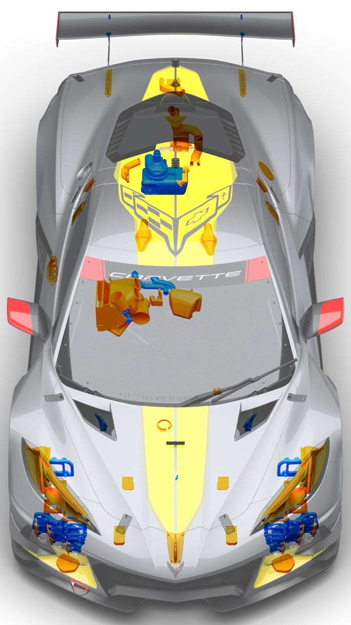The C8.R Corvette is Winning With the Help of 3D Printed Parts