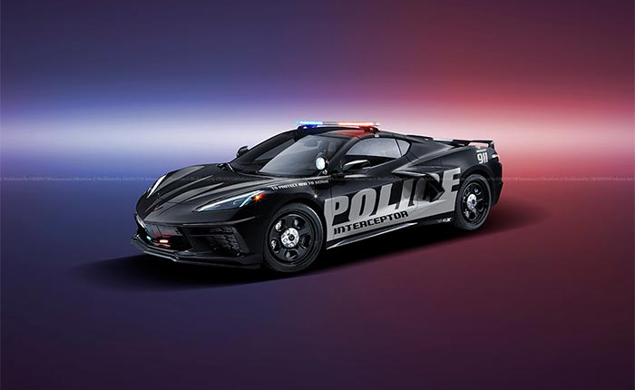 [PICS] Digital Artist Imagines a Police Interceptor Livery for the C8 Corvette