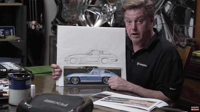 [VIDEO] Chip Foose Draws a 1963 Corvette Split-Window Coupe